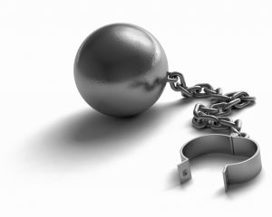 unlocked ball and chain