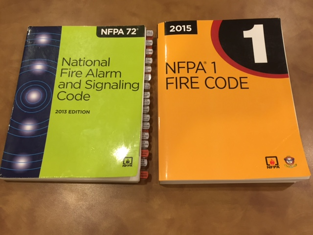 The 2013 Version of NFPA 72 and the 2015 version of NFPA 1.