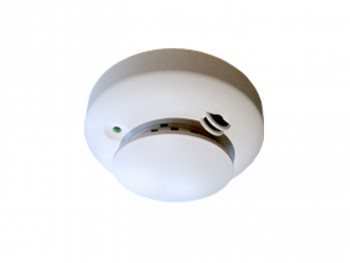 A wireless smoke detector.