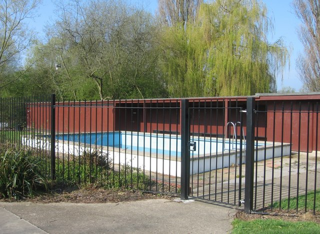 A gated-off pool.