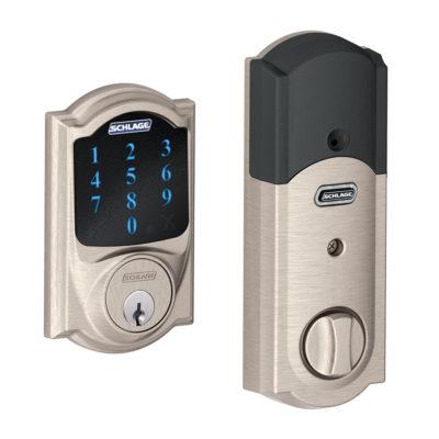 A Schlage smart keypad lock.