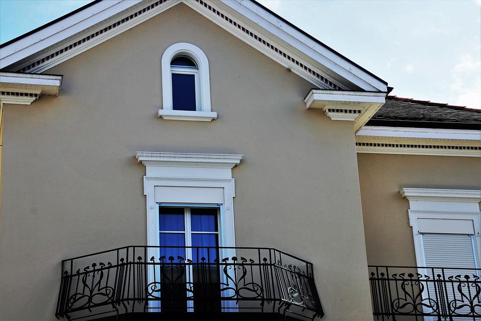 A balcony outside a home