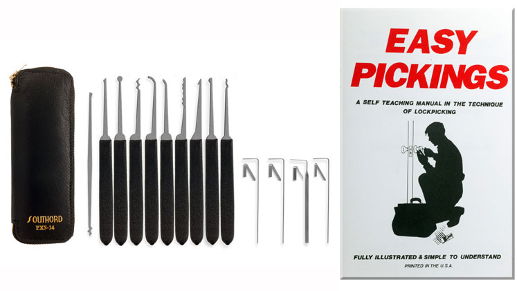 A lock picking kit and guide.