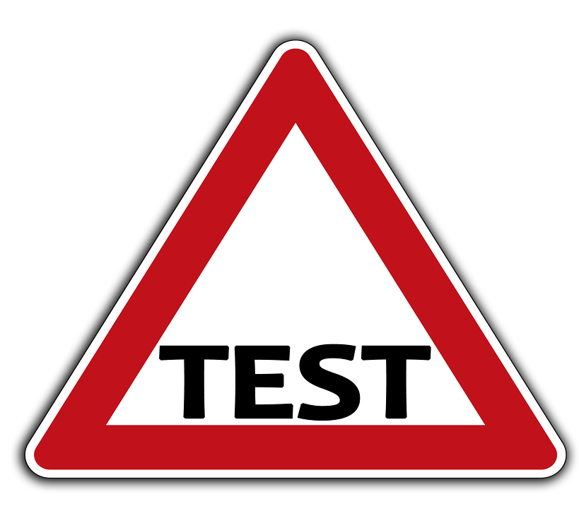 "A road sign reading ""TEST"""
