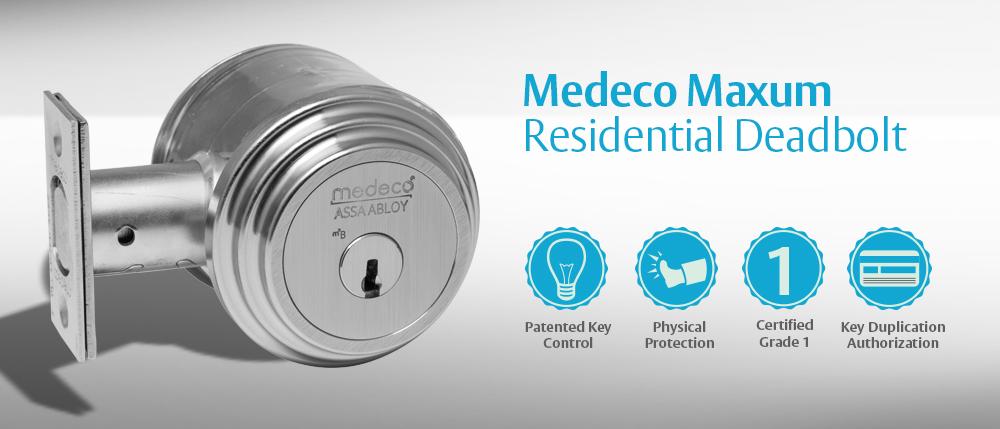 A Medeco residential deadbolt
