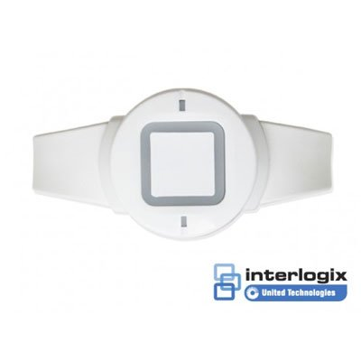 An Interlogix wireless panic wristband