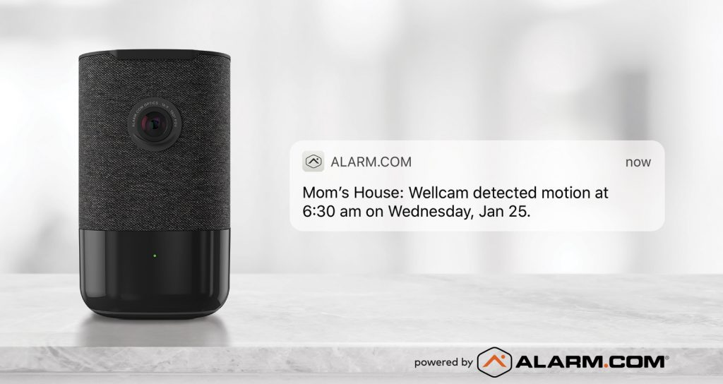 A Wellcam notification alerting users to motion detection