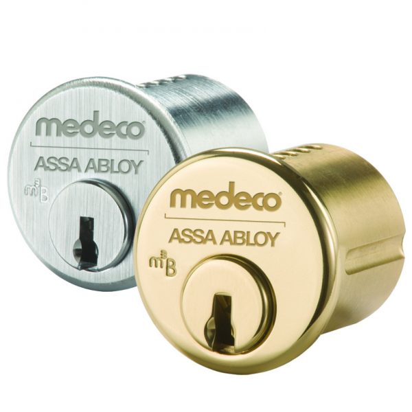 Two Medeco cylinders