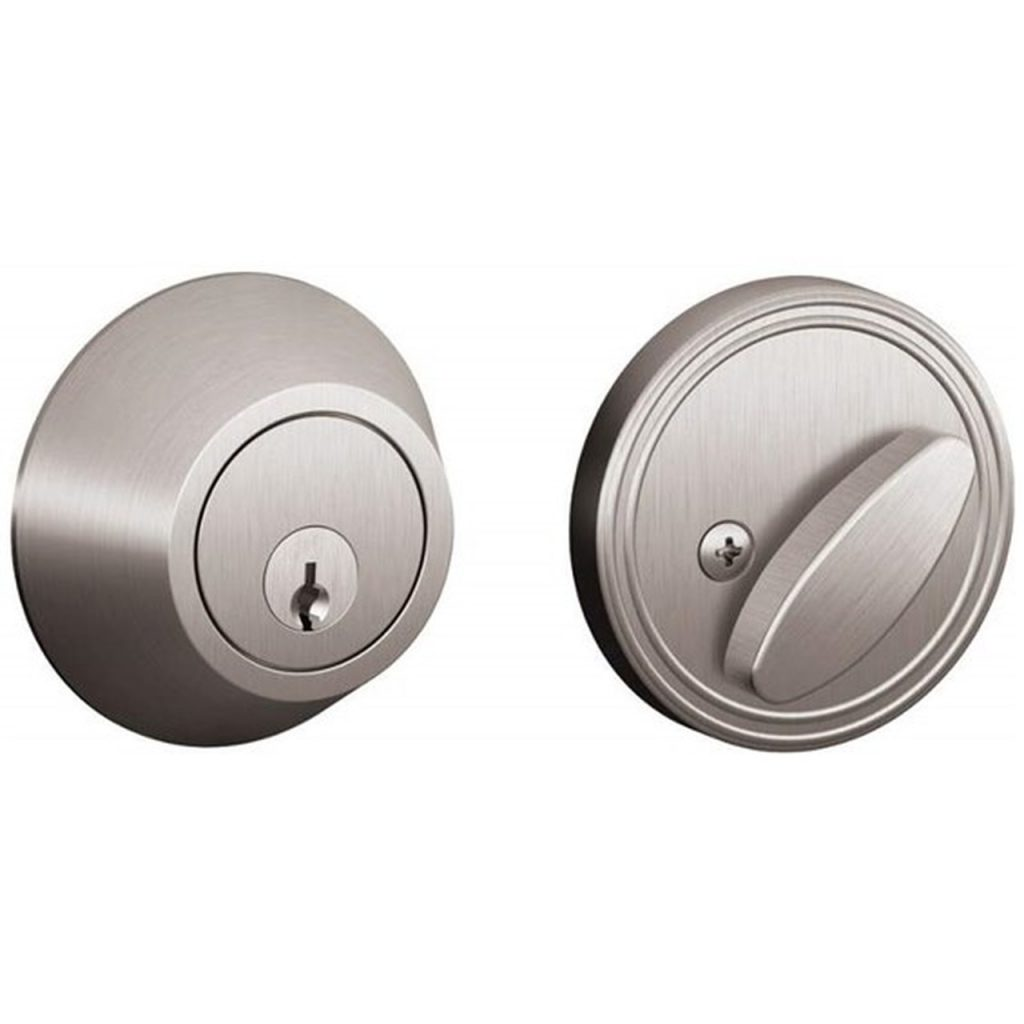 A Schlage single-sided deadbolt
