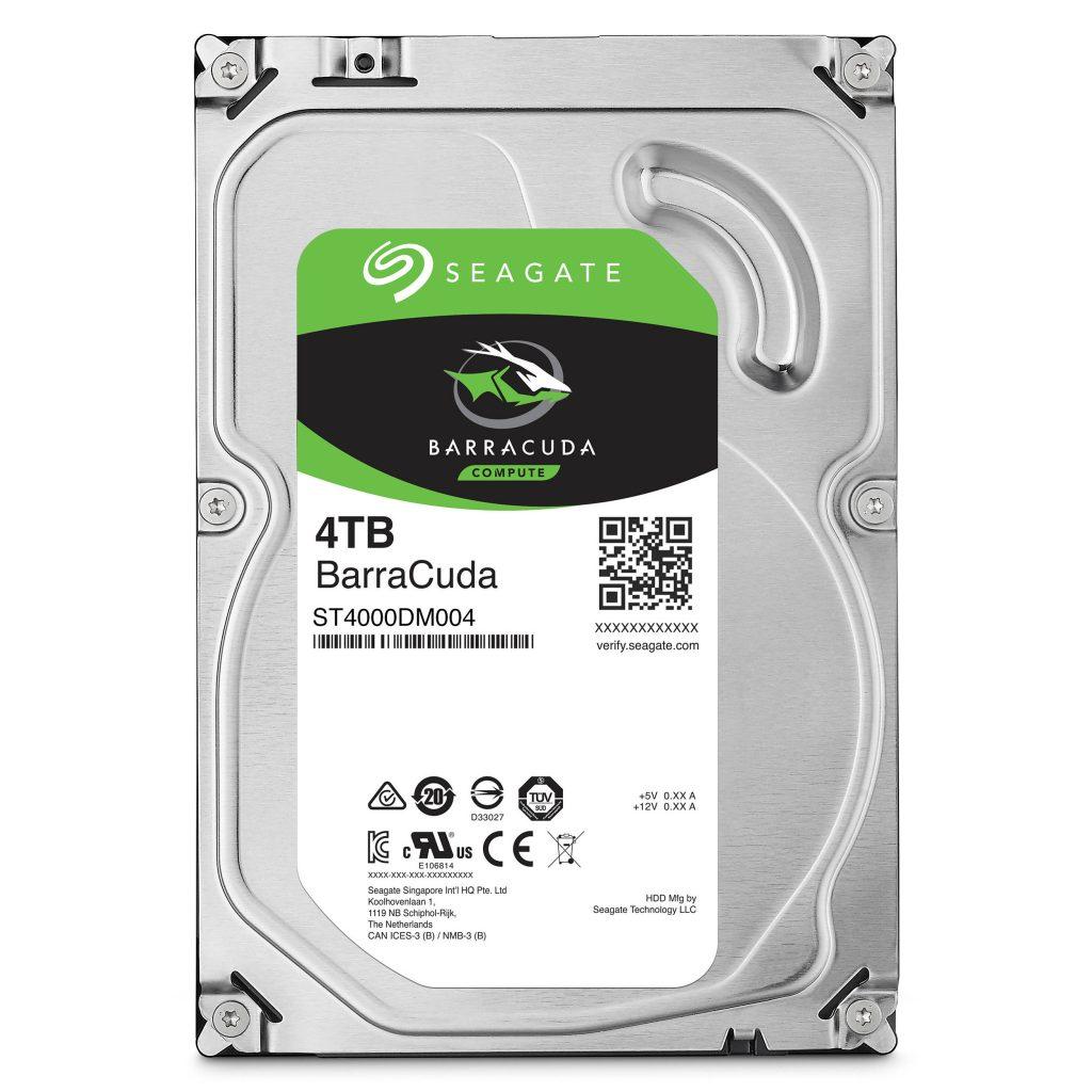 A 4-terabyte hard drive