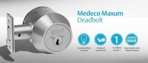 A Medeco Grade 1 deadbolt