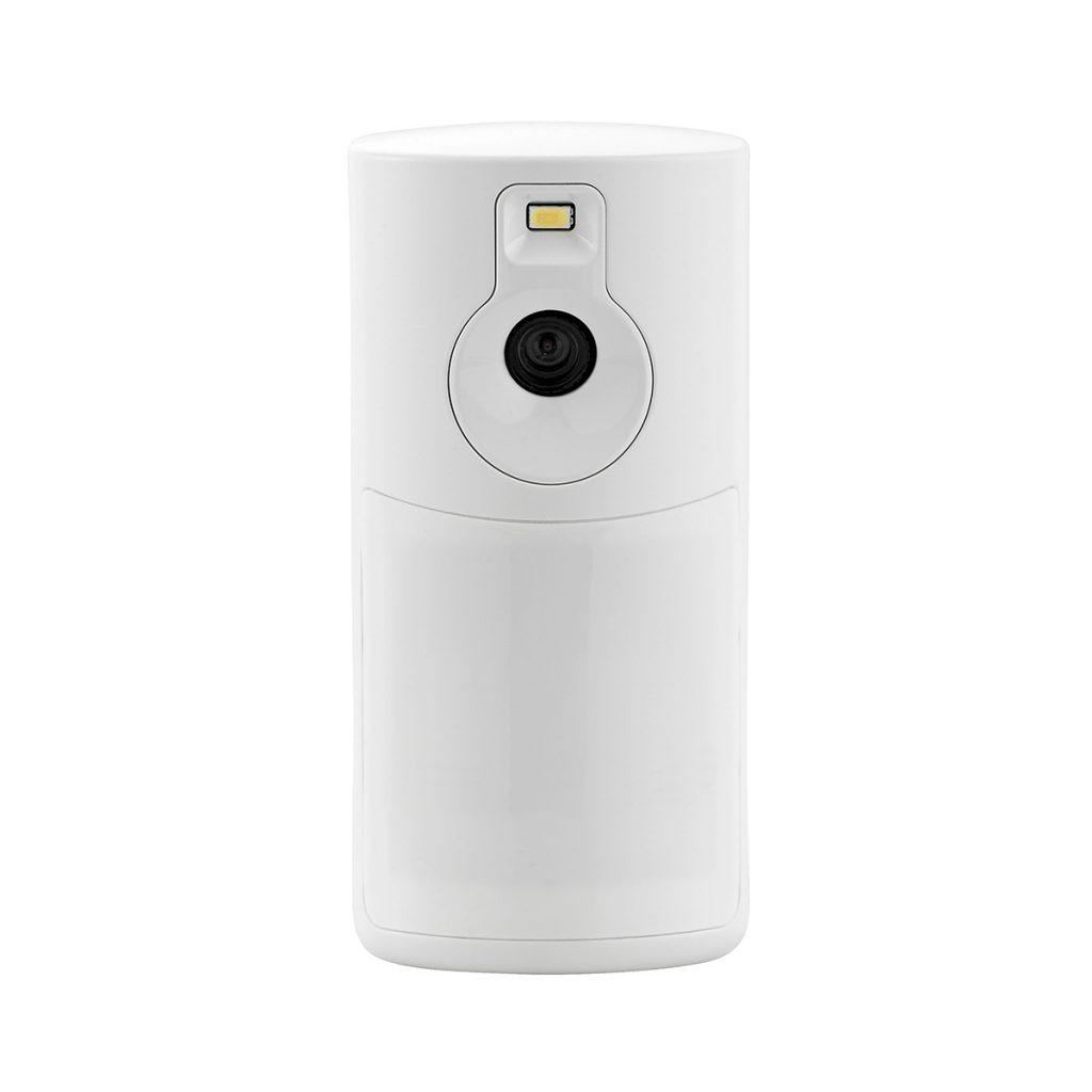 A Honeywell video-capturing motion detector