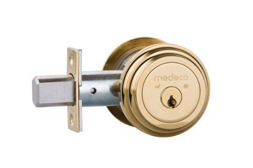 Medeco-Maxum-Residential-Deadbolt---Single-Cylinder---Bright-Brass-by-Medeco-Security-Locks