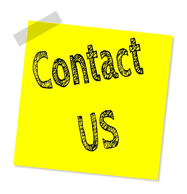 """A sticky note reading """"Contact Us"""""""