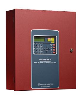 A Firelite fire alarm panel
