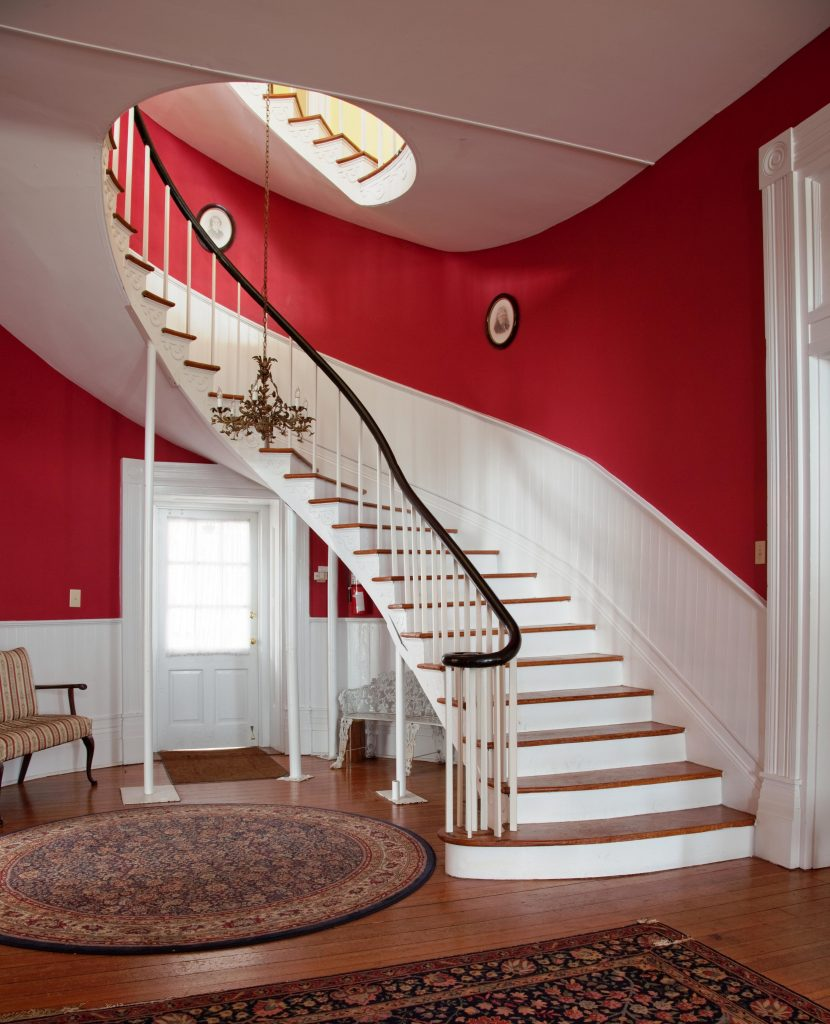 A staircase in a home