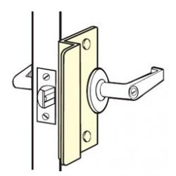 A Don Jo door closer on a door