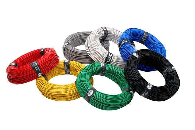 7 bundles of wire